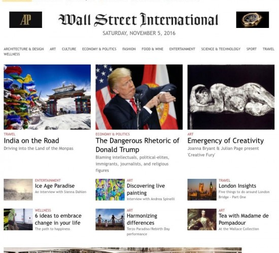 Press cutting: Wall Street International