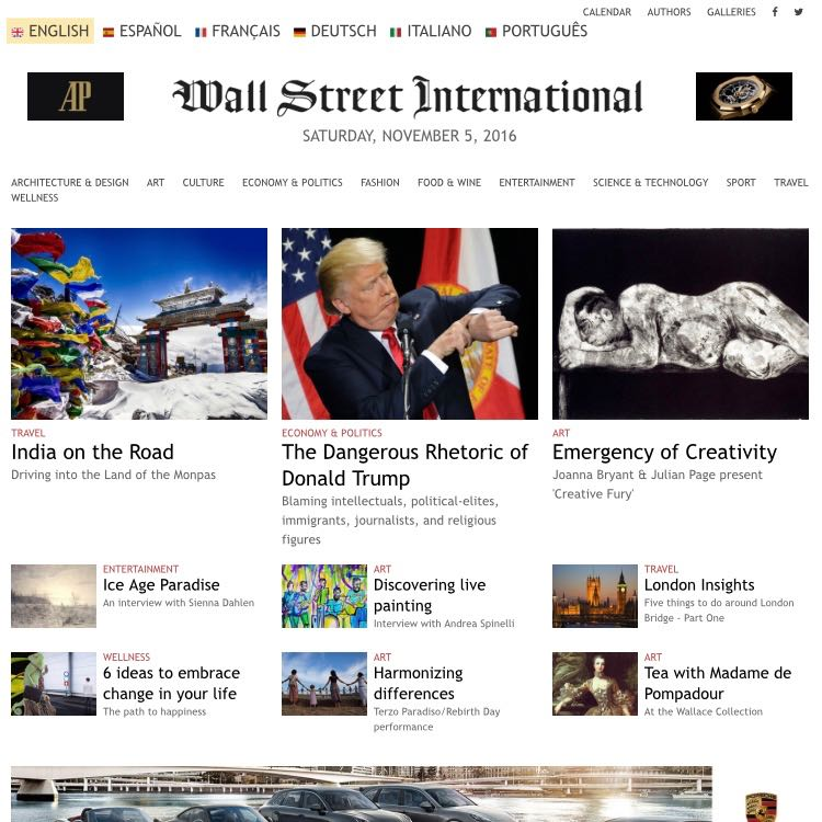 Press cutting: Wall Street International